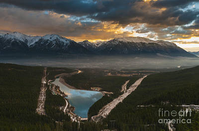 Canmore Sunrise Art Print by Ginevre Smith
