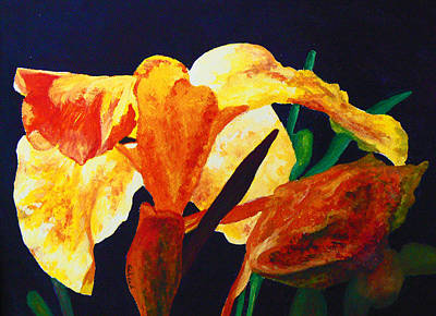 Painting - Canna Glow by Margaret Saheed