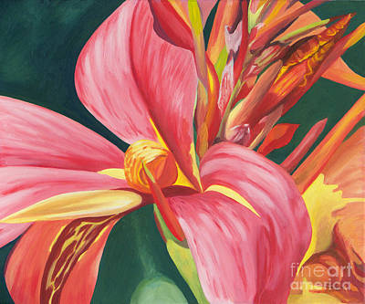 Painting - Canna Lily 2 by Annette M Stevenson
