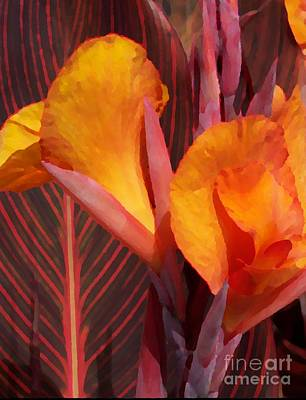 Photograph - Canna Painterly by Chalet Roome-Rigdon