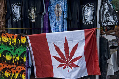 Design Pics - Cannabis Canadian Flag with Bob Marley Clothing by Randall Nyhof