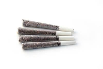Cannabis Cigarettes Art Print by Adam Hart-davis