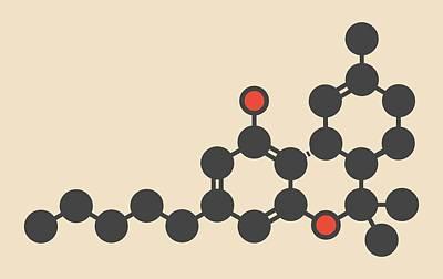 Weed Line Photograph - Cannabis Drug Molecule by Molekuul