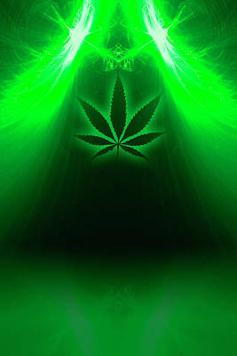 Cannabis Leaf Digital Illustration Art Print by Stock Pot Images