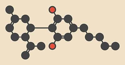 Weed Line Photograph - Cannabis Molecule by Molekuul