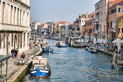 Cannaregio Canal In Venice Print by Gabriela Insuratelu