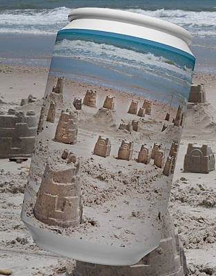 Sandcastles Digital Art - Canned Castles by Betsy Knapp