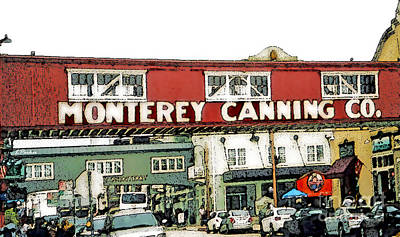 Cannery Row - Monterey Bay Art Print by Linda  Parker