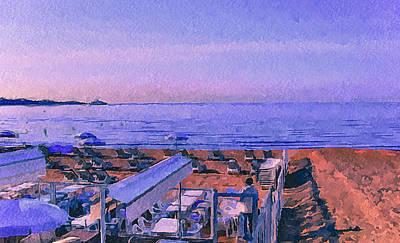 Cannes Beach Before Breakfast Art Print