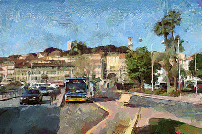 Cannes Central Bus Station Art Print
