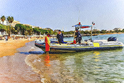 Cannes Coast Patrol Art Print