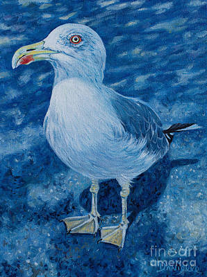 Cannes Painting - Cannes Seagull by Danielle  Perry