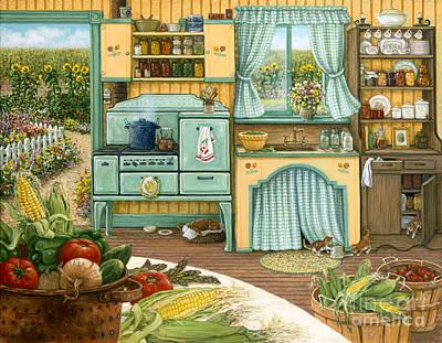 Canning Day Original by Janet  Kruskamp