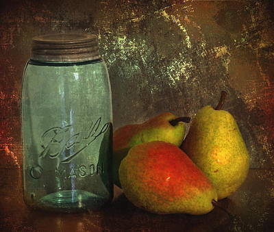 Canning Jars Photograph - Canning Season by Angie Vogel