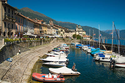 Photograph - Cannobio Italy Boats And Beautiful Houses by Matthias Hauser