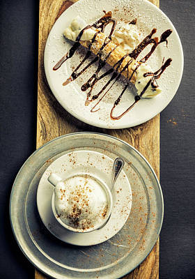 Photograph - Cannoli And Cappuccino by Chang