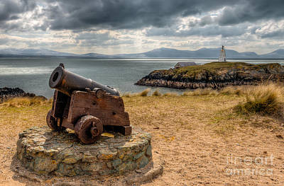 Cannon At Llanddwyn  Art Print by Adrian Evans