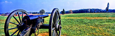 Of Bulls Photograph - Cannon At Manassas National Battlefield by Panoramic Images