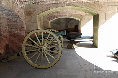 Cannon At San Francisco Fort Point 5d21495 Art Print by Wingsdomain Art and Photography