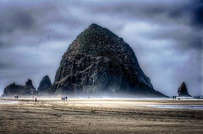 Dramatic Haystack - Cannon Beach Art Print by Spencer McDonald
