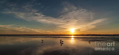 Photograph - Cannon Beach Sunset Tidal Flats by Mike Reid