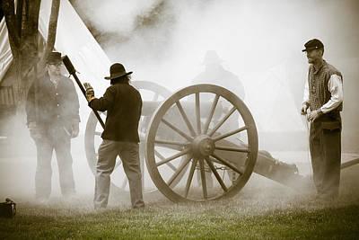 Cannon Fire At Plattsburg Art Print