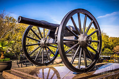 Orleans Photograph - Cannon In New Orleans Washington Artillery Park by Paul Velgos