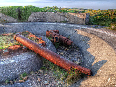 Photograph - Cannon Remains From Ww2 by Gill Billington