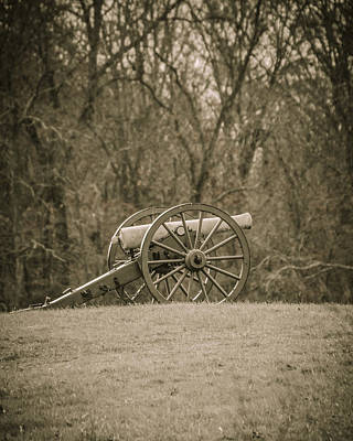 Photograph - Cannon Sepia Toned by Bradley Clay