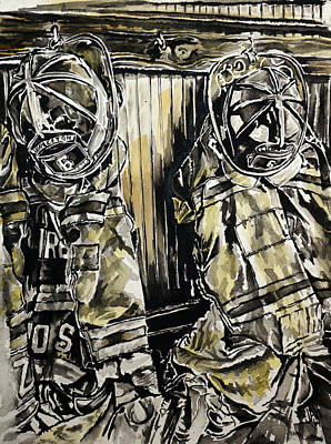 Fire Gear Painting - Cannon St. by Adam Hurst