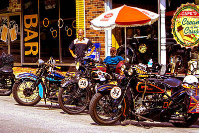 Photograph - Cannonball Motorcycle Colors by Jeff Kurtz