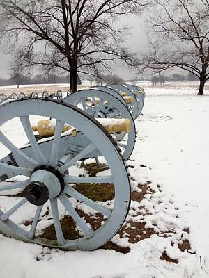Cannon's In The Snow Art Print by Michael Porchik