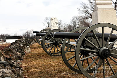 Photograph - Cannons Of Gettysburg by John Rizzuto