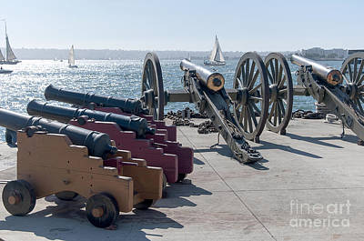 Photograph - Cannons On Quayside by Brenda Kean