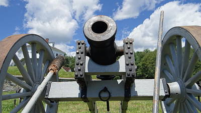 Revolutionary Wars Re-enactment Photograph - Cannons Ready by Kim Sanborn
