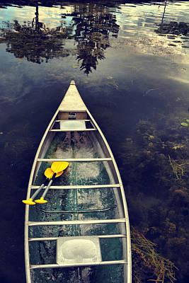 Canandaigua Photograph - Canoe Anticipation by Emily Stauring