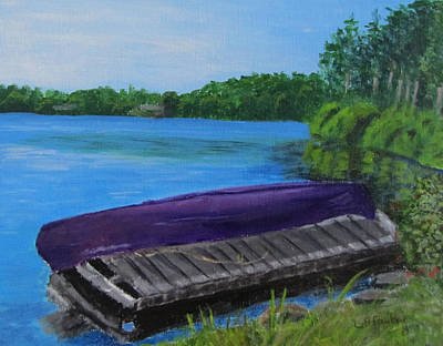 Painting - Canoe At Back Lake by Linda Feinberg