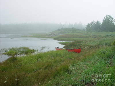 Art Print featuring the photograph Canoe At Point Of Maine by Christopher Mace