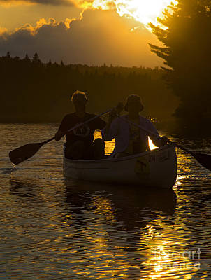 Photograph - Canoe At Sunset by Jim West