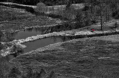Photograph - Canoe By Creek II by Steven Ralser