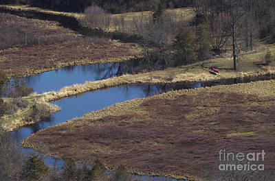 Photograph - Canoe By Creek by Steven Ralser