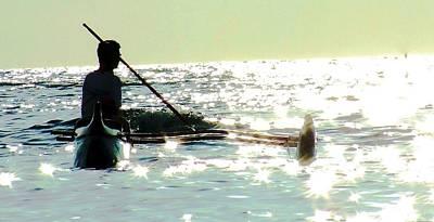 Canoe Mixed Media - Canoe Club 2 by Louie Tarter
