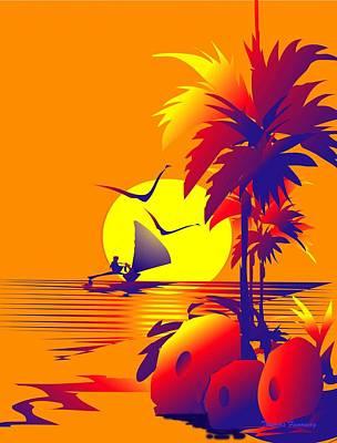 Canoe Cruise Original by Thomas Fanoway