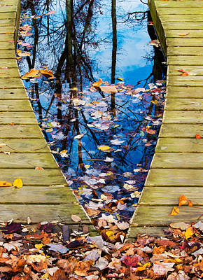 Photograph - Canoe Dock In Autumn by Gary Slawsky