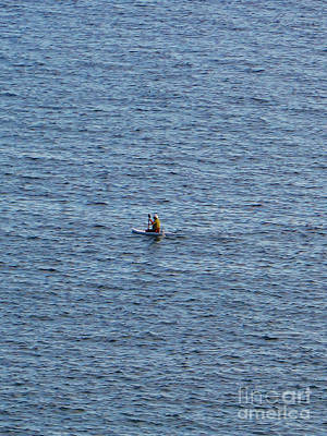 Images Of Ocean Canoes Photograph - Canoe  In The Ocean by Bozena Simeth