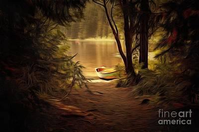 Canoe Digital Art - Canoe by Leone Carlson