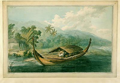 Canoe Photograph - Canoe Of Raiatea by British Library