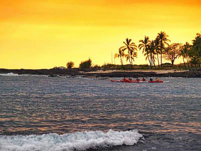 Canoe On Kona Coast Art Print