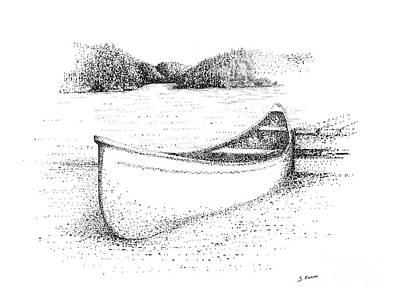 Canoe On The Beach Art Print by Steve Knapp