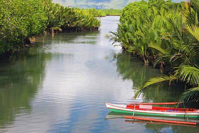 Canoe Photograph - Canoe On The River, Bohol Island by Keren Su